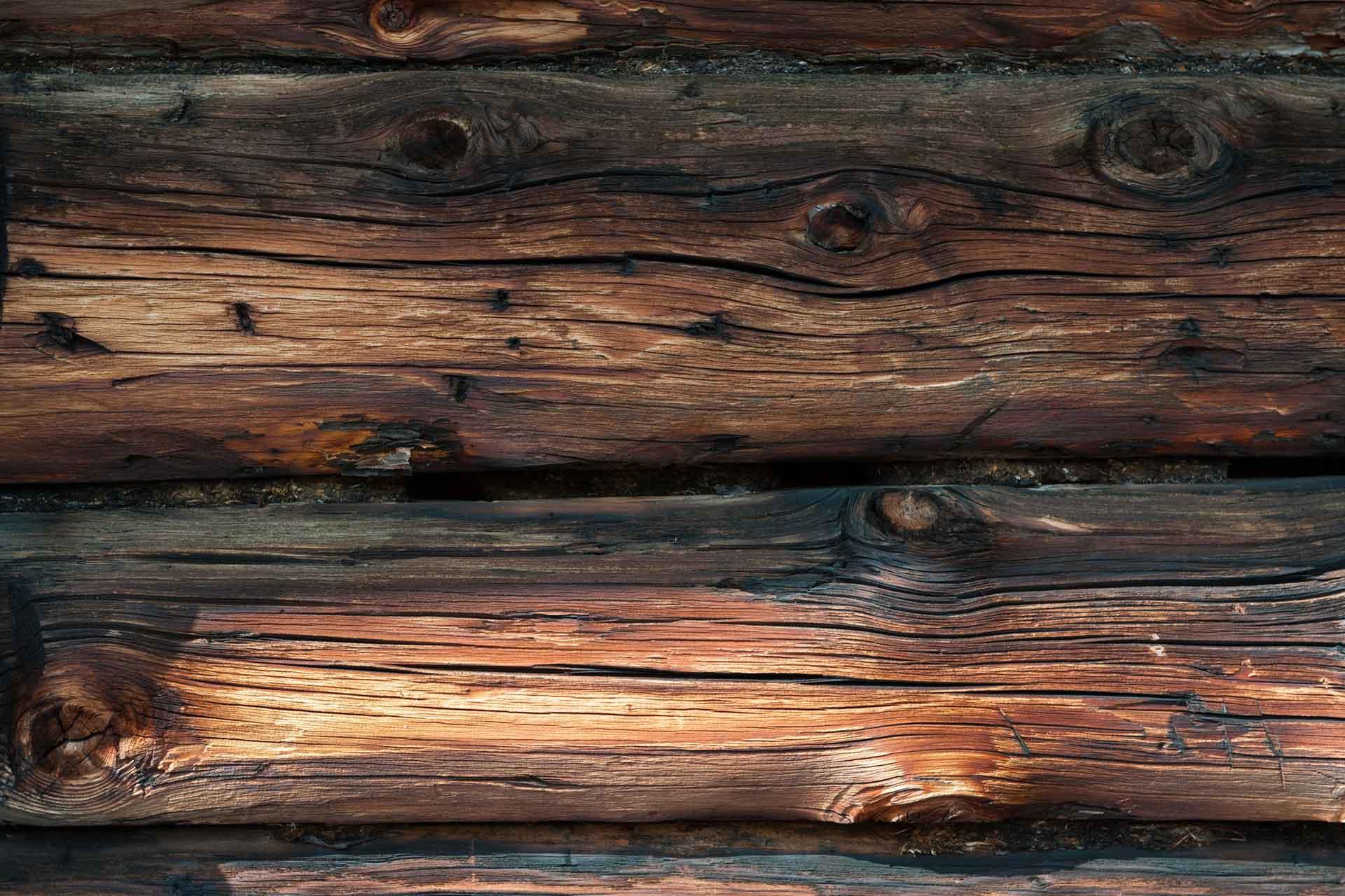 Dunkle Holzoberfläche
